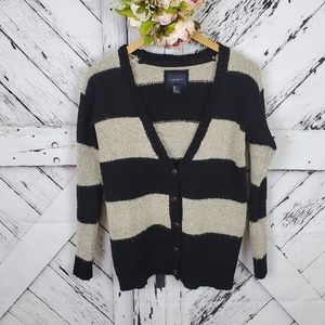 Forever 21 Buttoned Striped Cardi sz 8